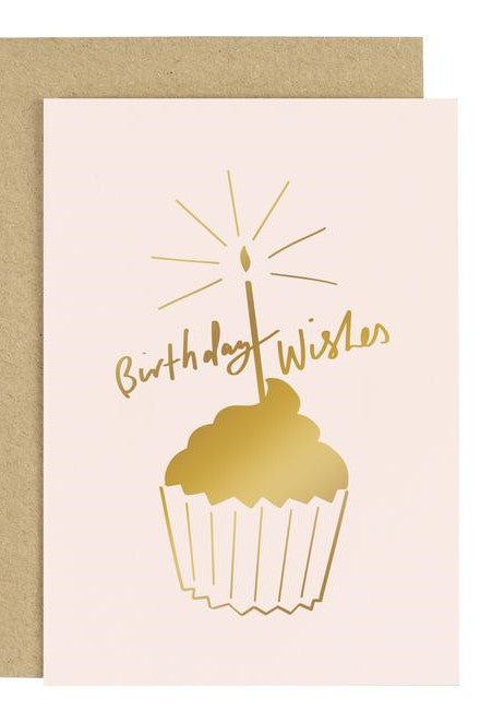 Birthday Wishes & Cake - Greetings Card