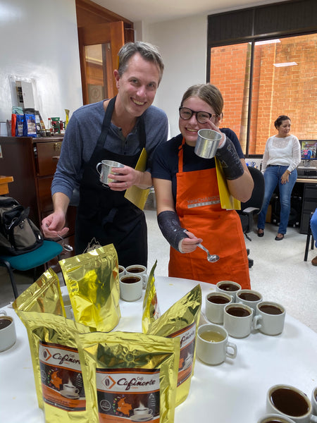 coffee cupping in Michigan