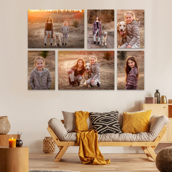 Buy 1, Get one FREE: 6 Piece Combo Deal x2! (12 prints in total) Canvas & More