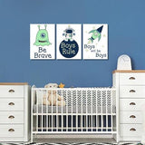Boys: Set of 3 - Alien Boys Rule Canvas & More