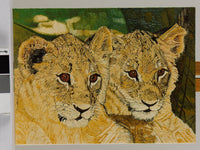 Lion Cubs Oil Painting