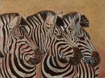 Three Zebra Oil Painting