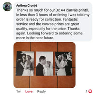 SELF-SERVICE: 3 x A4 Canvas Print Combo ( FAST DELIVERY!) Custom Canvas Canvas & More
