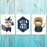 Boys - Set of 3 - Wild and Free Canvas & More