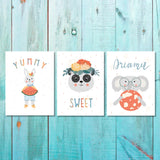 Set of 3 Girls Yummy,Sweet,Dream Canvas & More