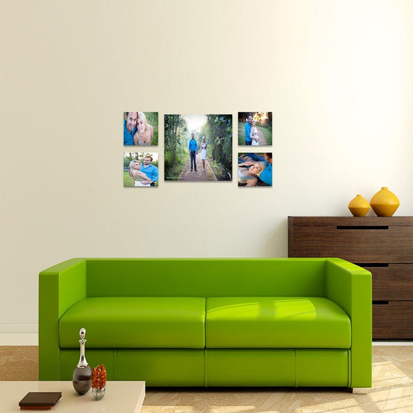 5 Piece Square Canvas Print Combo Special Custom Canvas Canvas & More