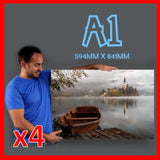 Buy 4 x A1 and save R640! Canvas & More
