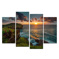 4 Piece Staggered Split Canvas Print ComBo