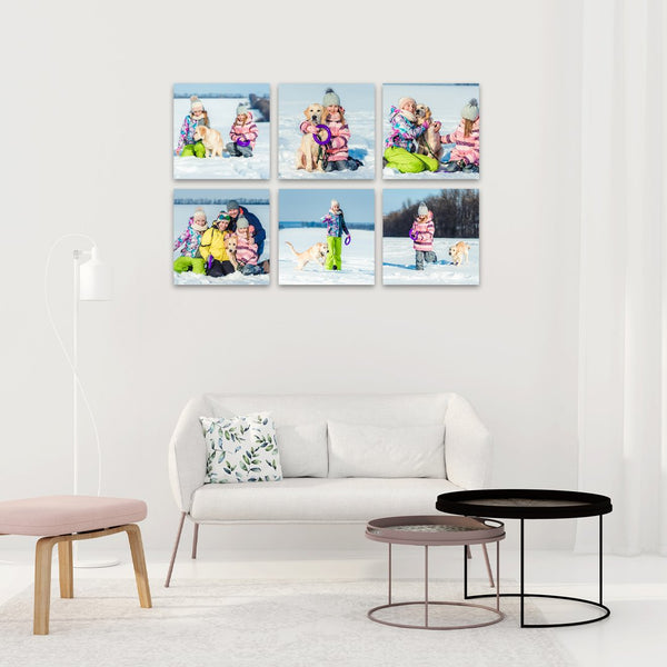 Re-stickable Square Memory Blocks  - no tools required to hang!