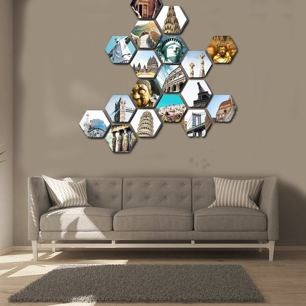 Hexagonal Canvas Prints - 18 Piece