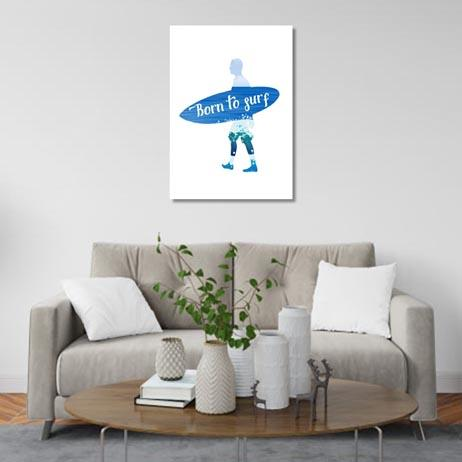 Set of 1: Born to surf Canvas & More
