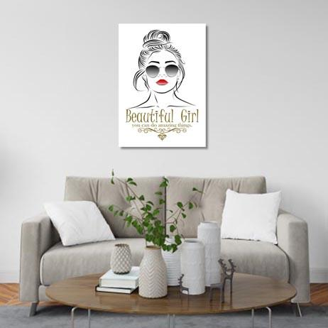 Set of 1: Beautiful Girl Canvas & More