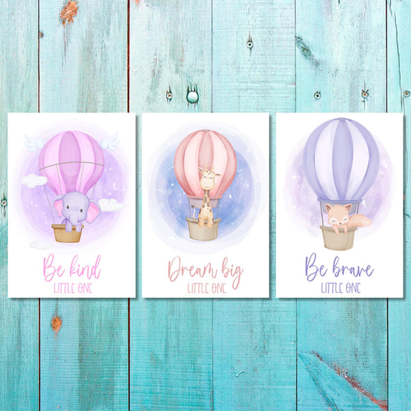 Girls - Set of 3 - Balloon Animals (2) Canvas & More