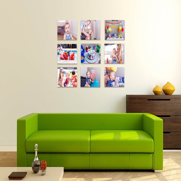 9 Piece Squares Canvas Print Combo Special (200x200mm)