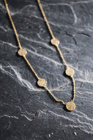 Minoan Phaistos Disc Necklace