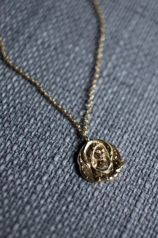 Virgin Mary Madonna Medallion Necklace