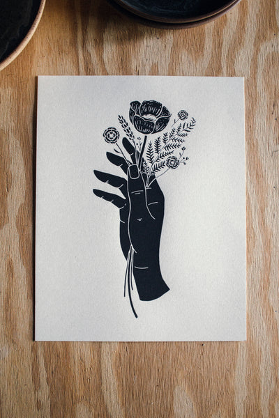 Floral Hand Print