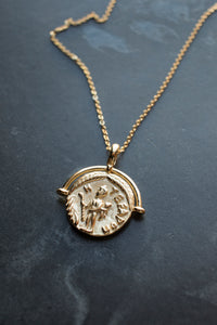 Ancient Greek Mythological Medallion Necklace