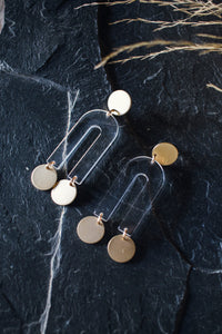 Passage Earrings - Gold + Clear