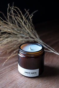 Amber Santal Travel Candle