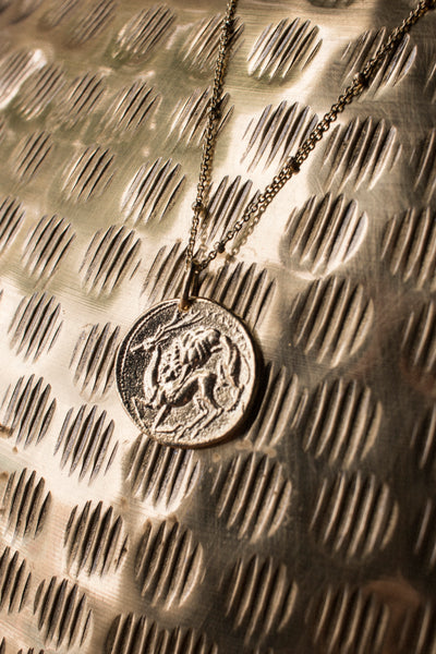 Goddess Athena Coin Necklace