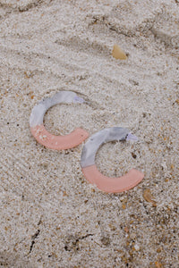 Pink and Marble-Look Hoops