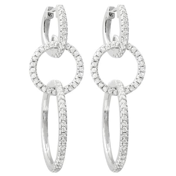 Sterling Silver Fashion Hoop Earrings For Women | Fast Free Shipping