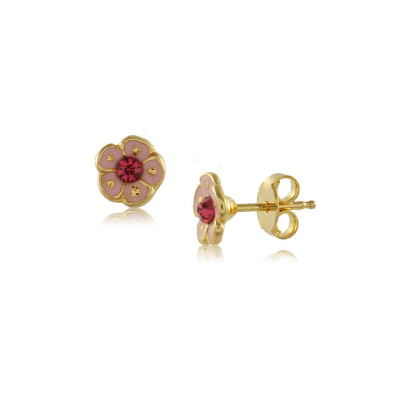 Painted Flower Studs - ijeweled