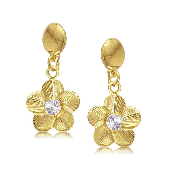 Gold Flower Earring - ijeweled