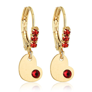 Heart And Crystal Earing - ijeweled