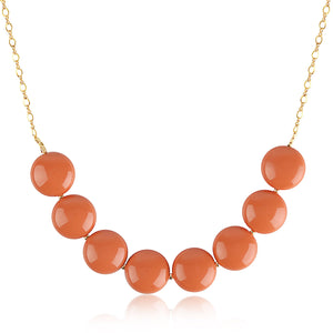 Coral Coin Pearl Necklace - ijeweled