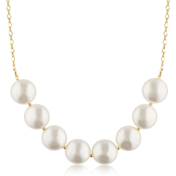 Coin Pearls Necklace - ijeweled