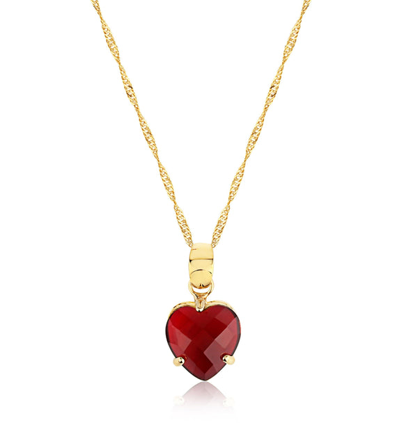 Ruby Heart Pendant - ijeweled