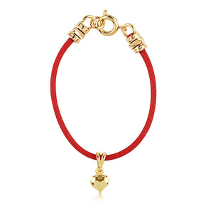 Gold Heart Cord Bracelet - ijeweled