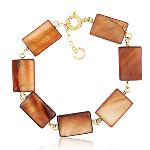 Mother Of Pearl Rectangle Bracelet - ijeweled