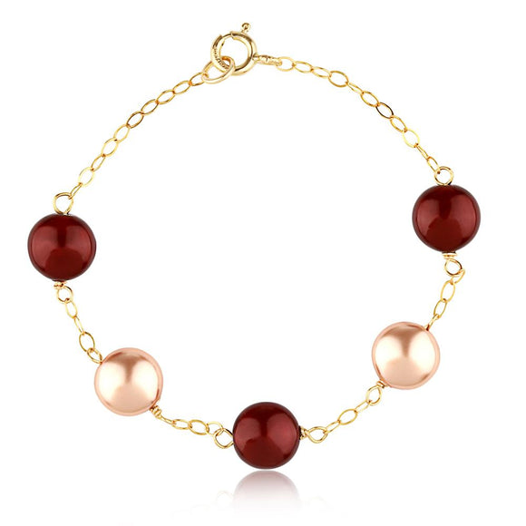 Bordeaux Coin Bracelet - ijeweled
