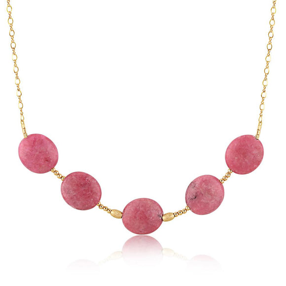 Rose Gemstone Necklace - ijeweled