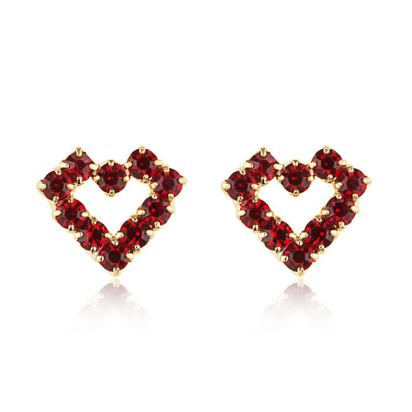 Crystal Heart Studs - ijeweled