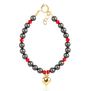 Black Pearl And Crystal Bracelet - ijeweled