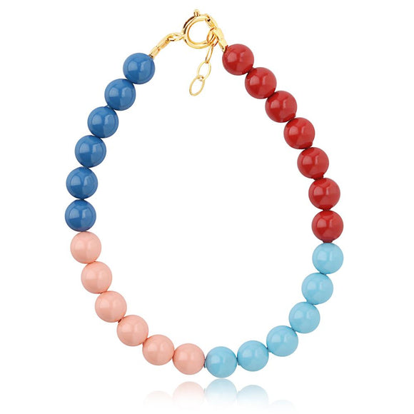 Color Block Coral Bracelet - ijeweled