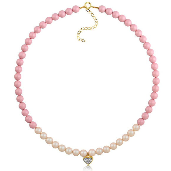 Pastel Heart Necklace - ijeweled