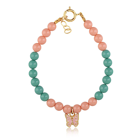 Green And Pink Coral Bracelet - ijeweled