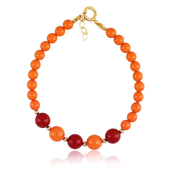 Bracelet - Swarovski Coral And Red Baby Bracelet