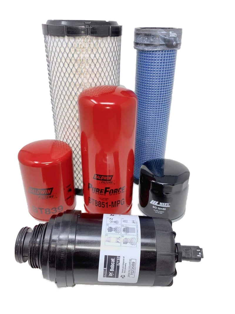 1000 Hour CFKIT Maintenance Filter Kit For Bobcat E42, E45, E50, E55 Excavators, 7324331