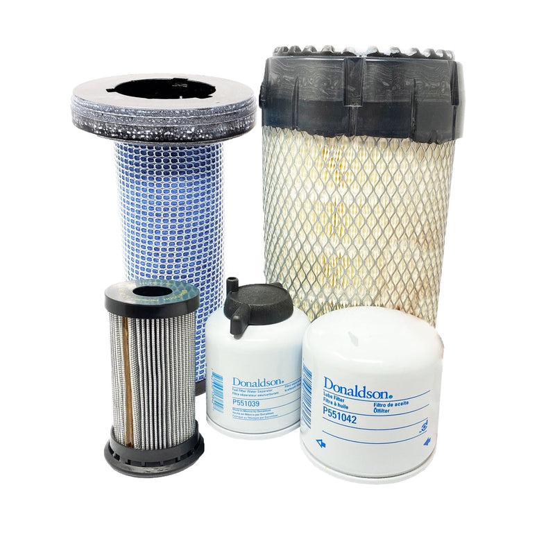Bobcat S650 T650 S630 T630 w/Kubota Engine Filter Kit (Inc. Charge Filters) - crossfilters