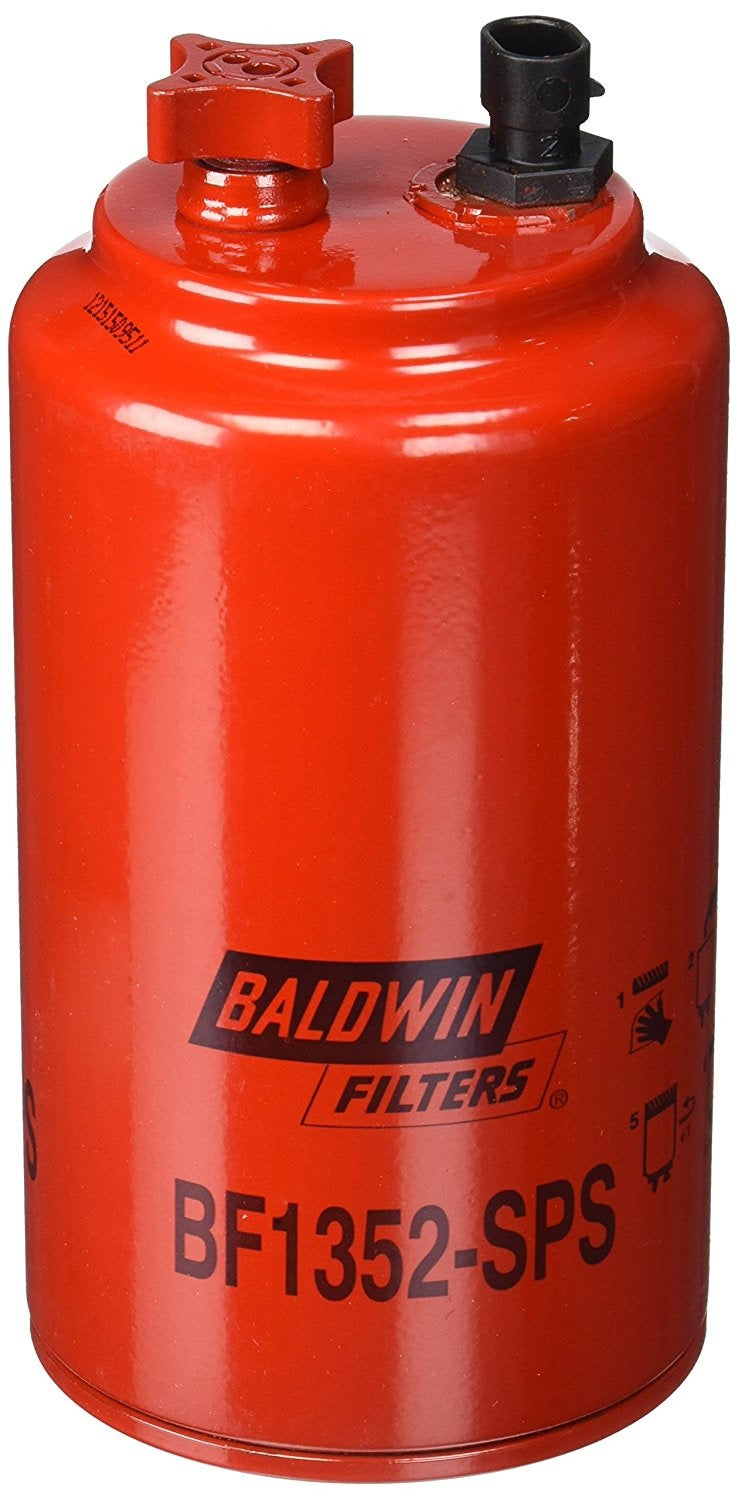 BF1352-SPS Baldwin Fuel/Water Separator Spin-On W/ Drain - crossfilters