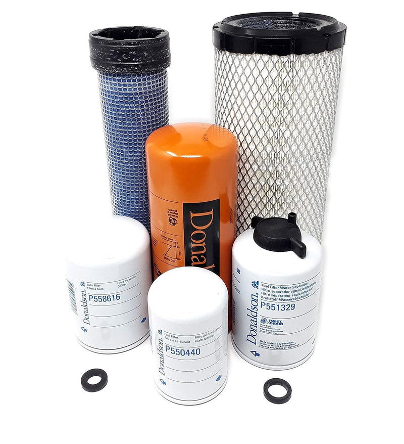 Case 1845C & 1840 Maintenance Filters Kit (Radial Seal Air Filters) Donaldson - crossfilters