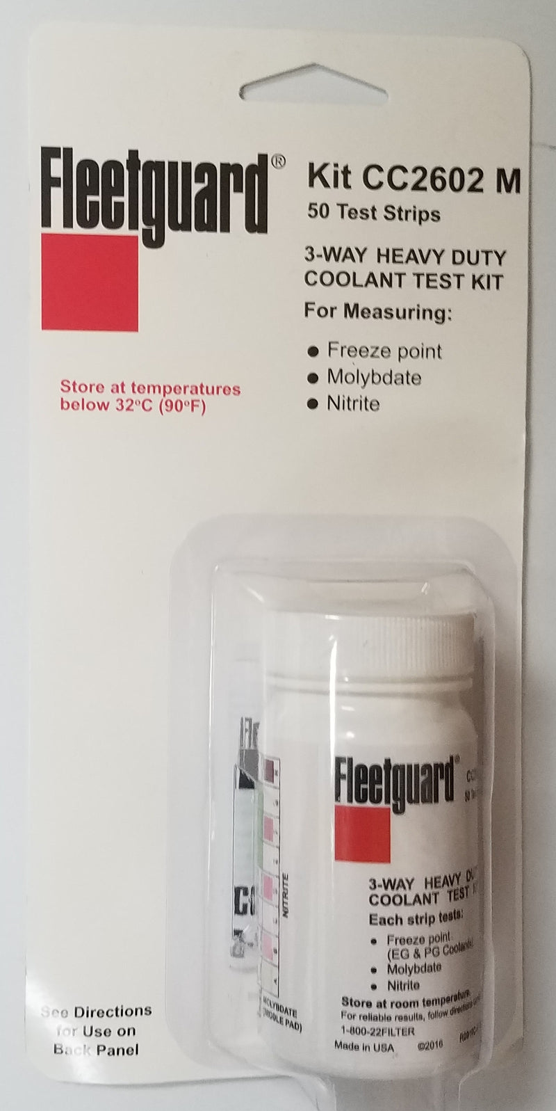 CC2602 Fleetguard Kit  (Replaced By CC2602-M) 50 Test Strips - crossfilters