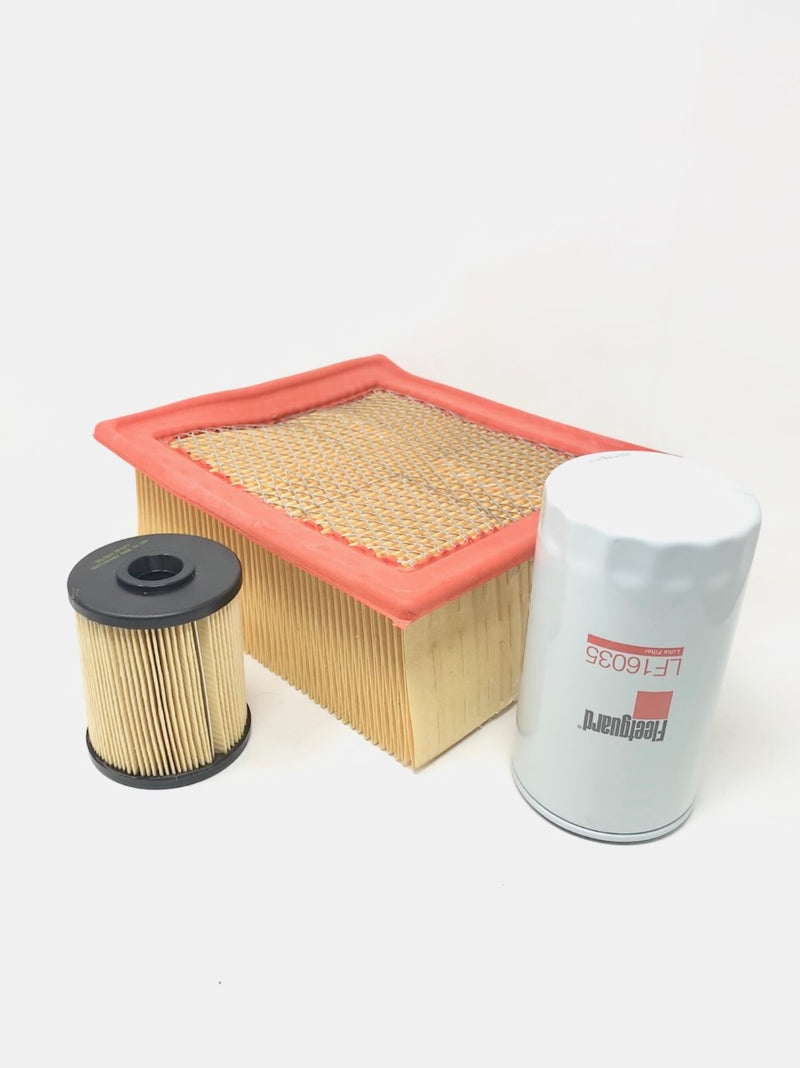 Set Fuel Filter Baldwin PF7977 & Lube Filter Fleetguard LF16035 W/ Air Filter Wix 49946