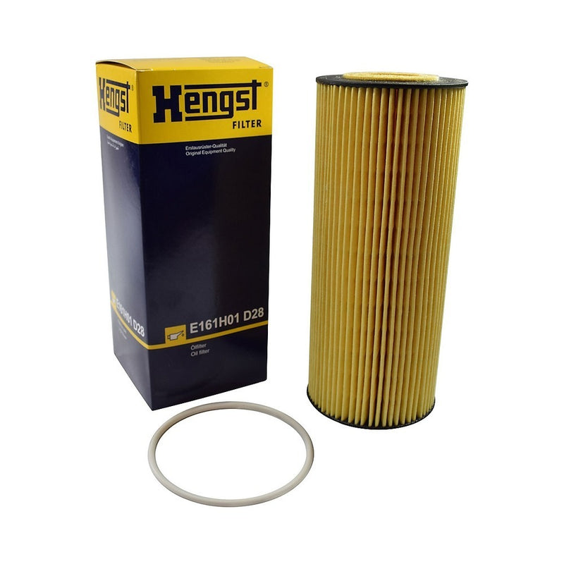 E161H01D28 Hengst Oil Filter For Mercedes 4.8L  6.4L 7.2L (Replaces P550761) Pack of 2